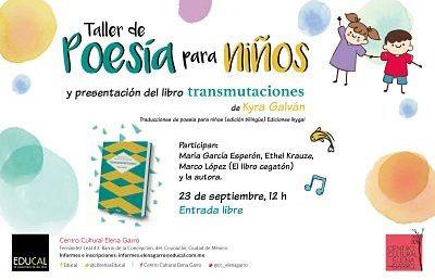 """Taller de poesía y presentación de libro """"Transmutaciones"""""""