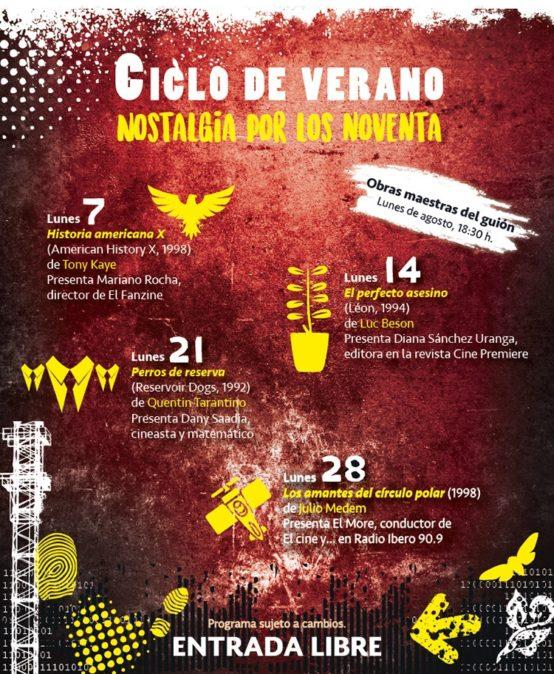 "Cine de Verano ""Nostalgia por los noventa"""