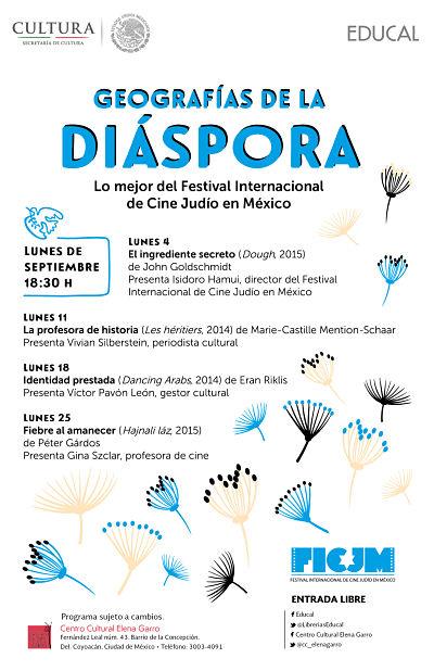 """Cine de septiembre """"Geografías de la diáspora"""""""