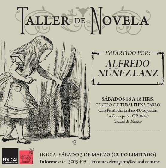 """Taller de Novela """"Mundos alucinantes"""""""