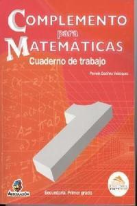 Complemento Para Matematicas 1 Cuaderno De Trabajo
